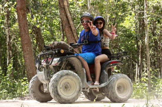 ATVs + Tirolesa + Rapel + Mayan Ceremony + Snorkel