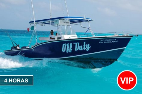 Private Fishing in Cancun 1-10 pax 4 hours