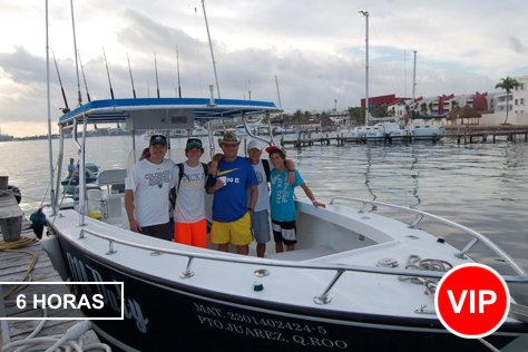 Private Fishing in Cancun 1-10 pax 6 hours